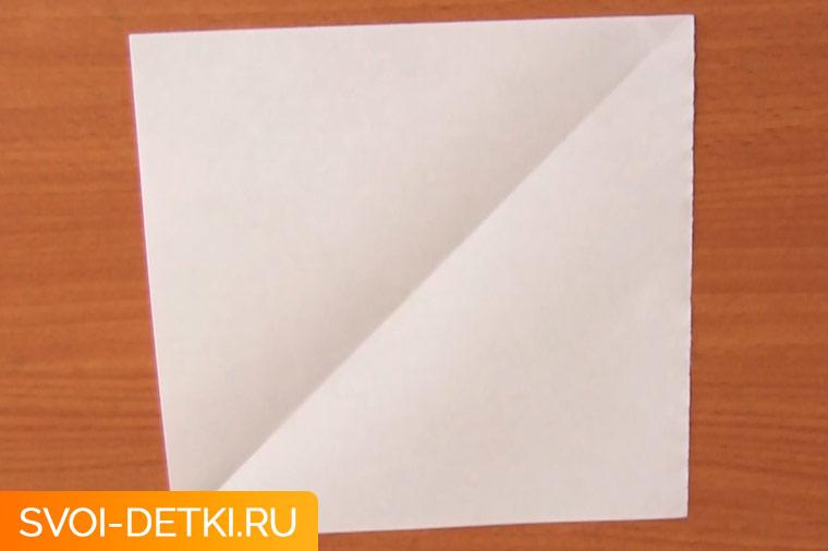 Оригами базовый элемент квадрат 7