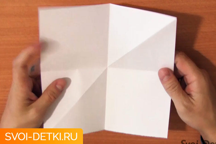 Оригами двойной квадрат 1