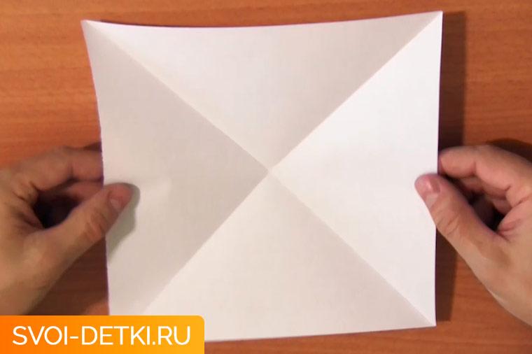 Оригами двойной треугольник 2