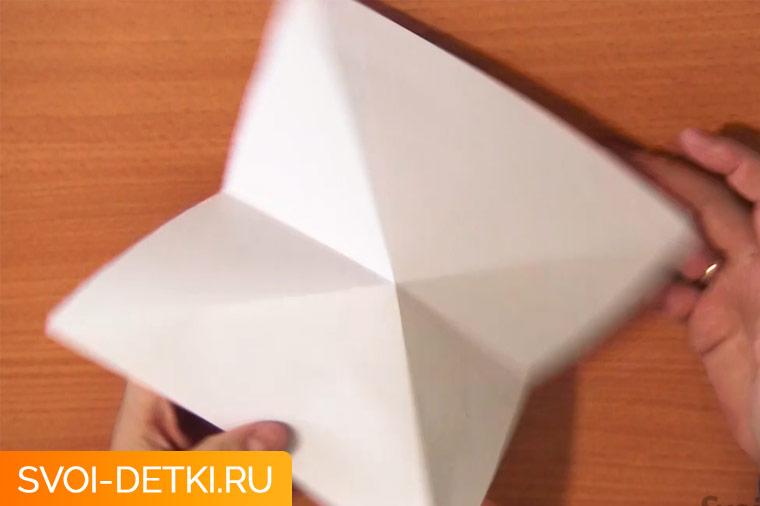 Оригами двойной треугольник 4