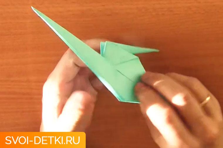 оригами журавлик 10
