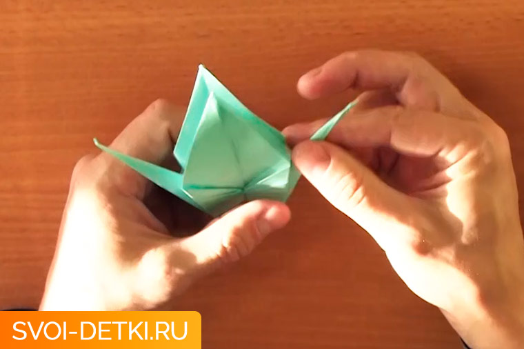 оригами журавлик 11