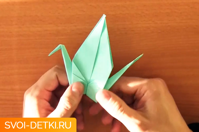 оригами журавлик 12