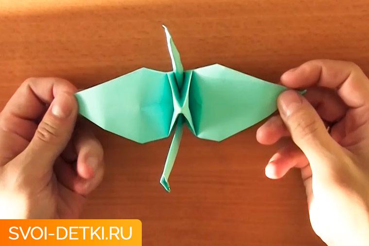 оригами журавлик 13
