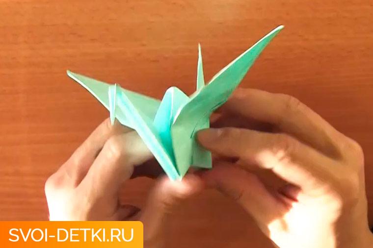 оригами журавлик 14