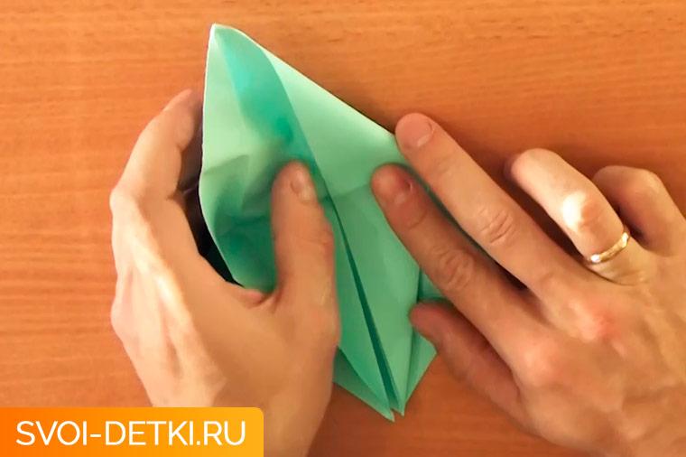 оригами журавлик 4
