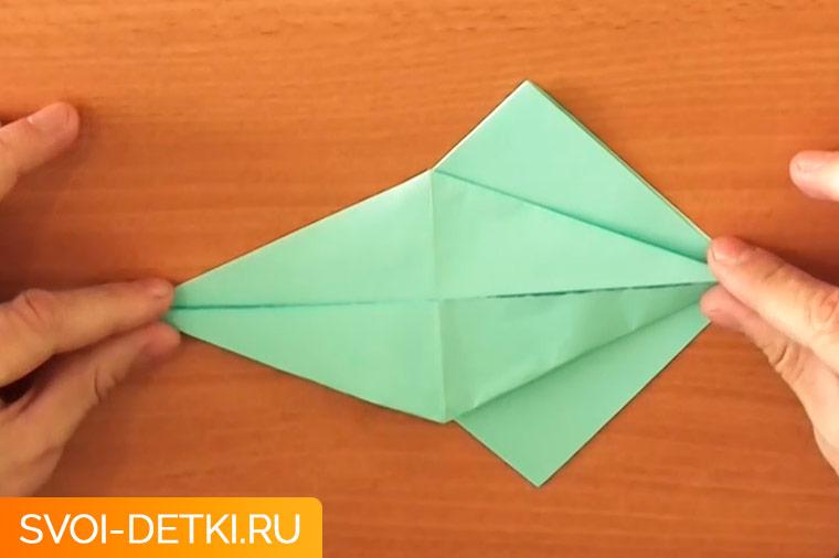 оригами журавлик 5