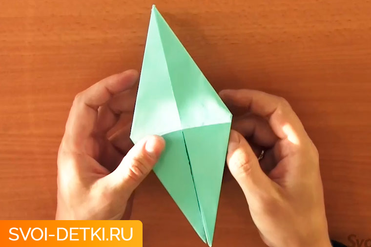 оригами журавлик 6