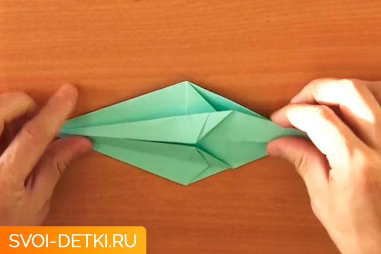 оригами журавлик 7