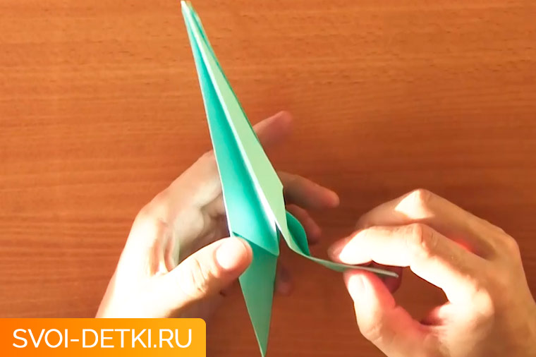 оригами журавлик 8