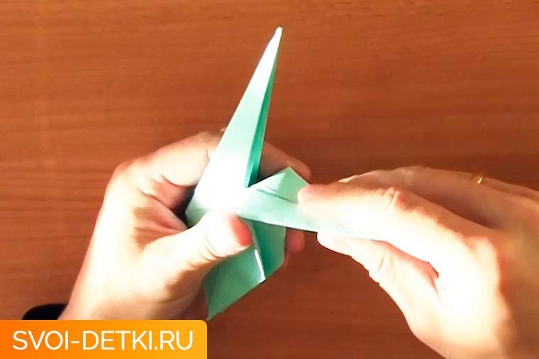 оригами журавлик 9