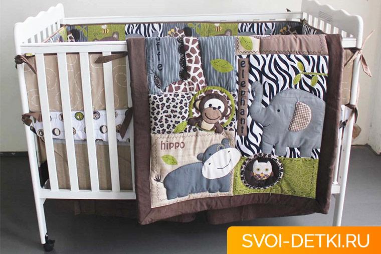 Как оборудовать кроватку для новорожденного.