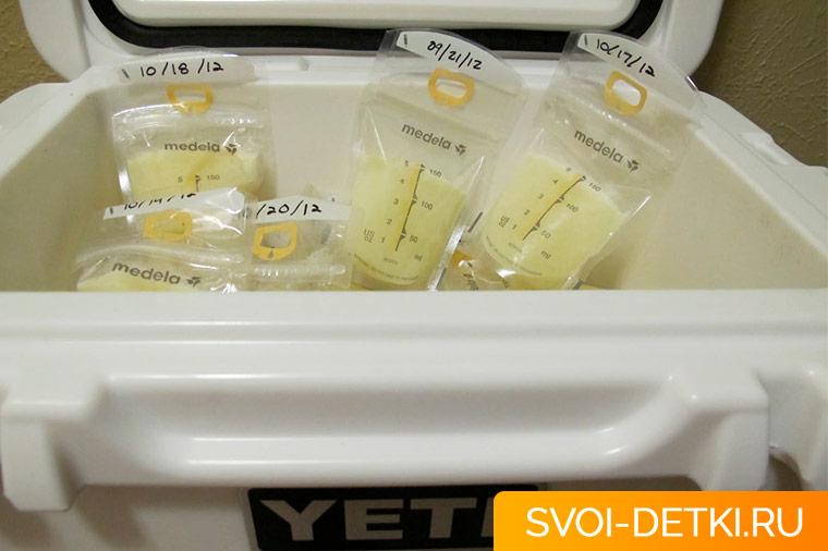 Можно ли хранить молоко после сцеживания