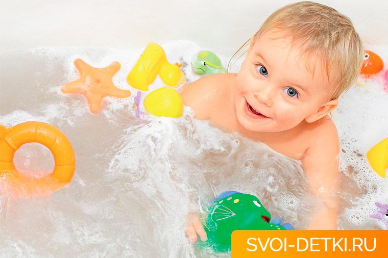 С чем можно купать ребенка