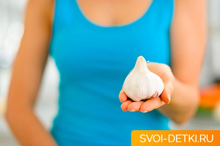 Как есть чеснок при кормлении грудью